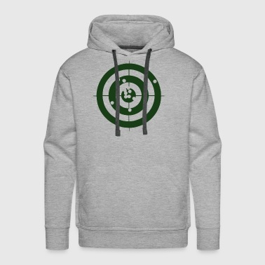 Bullseye Geometry Present Art Design Green - Men's Premium Hoodie