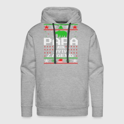 Papa Ugly Christmas Sweater Gift - Men's Premium Hoodie