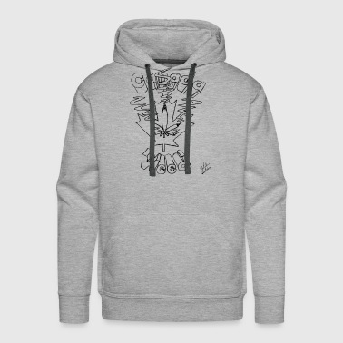 Canada Weed, Original Art by WeedArtist - Men's Premium Hoodie