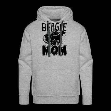 beagle dog mom Shirt - Men's Premium Hoodie
