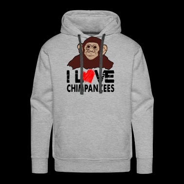 I Love Chimpanzees Shirt - Men's Premium Hoodie
