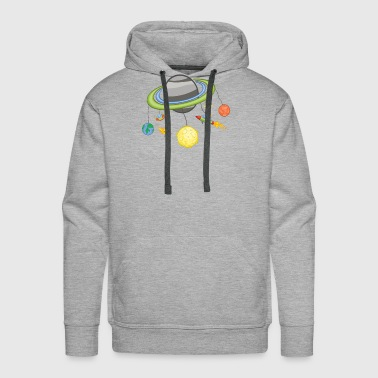 Space Mobile Planets / Gift Idea - Men's Premium Hoodie