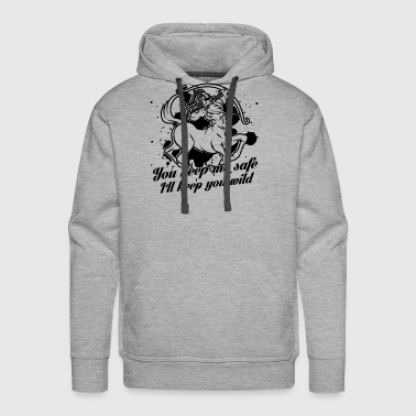 Sagittarius Keep You Wild Shirt - Men's Premium Hoodie