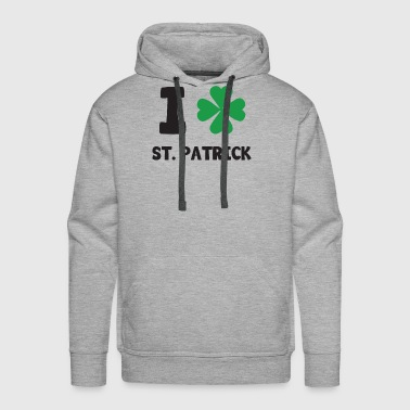 Cool I (Shamrock Graphic) St. Patrick T-Shirt - Men's Premium Hoodie
