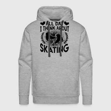 Think About Ice Skating Shirt - Men's Premium Hoodie