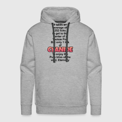 It takes an average of 252 licks to get the center - Men's Premium Hoodie