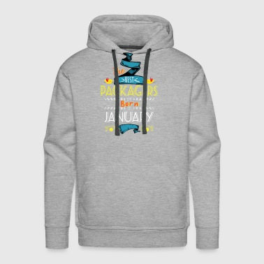 Best Packagers are Born in January Gift Idea - Men's Premium Hoodie