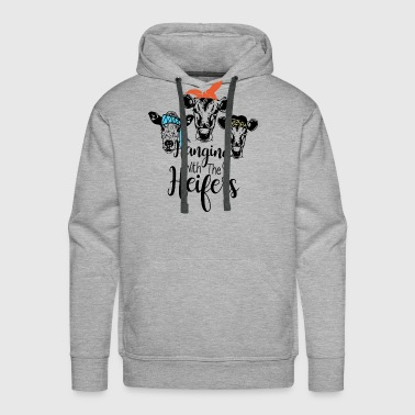 Hanging With The Heifers - Men's Premium Hoodie
