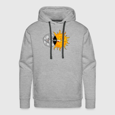 Total Solar Eclipse T-shirt. Funny Sun and Moon - Men's Premium Hoodie