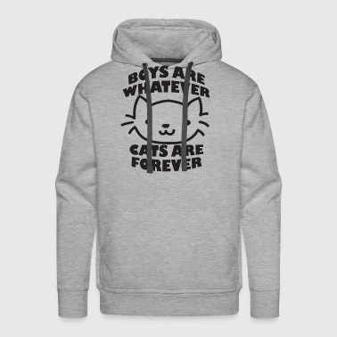 Boys Are Whatever Cats Are Forever Tumblr Blogger - Men's Premium Hoodie