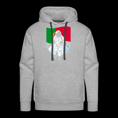 Astronaut moon portugal flag - Men's Premium Hoodie