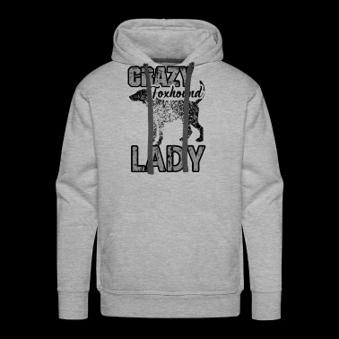 Foxhound Lady Shirt - Crazy Foxhound Lady T shirt - Men's Premium Hoodie