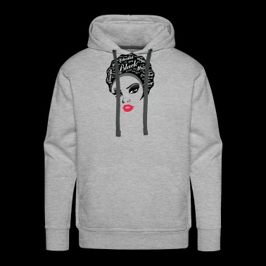 Educated Afro Natural Hair Black strong women gift - Men's Premium Hoodie