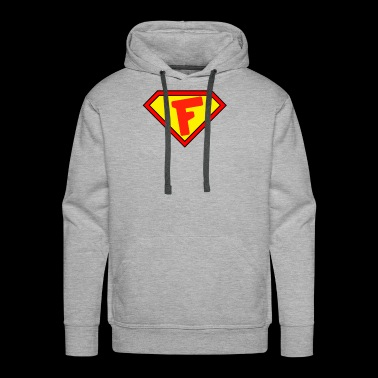 Superman personalized shirt for F name - Men's Premium Hoodie