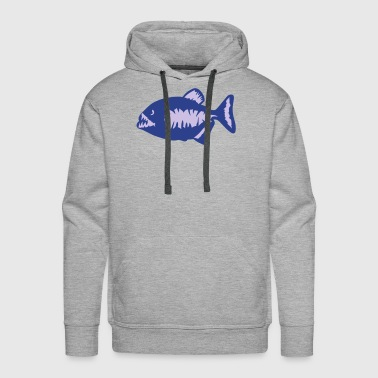 piranha piranhas nasty sharp teeth 3 - Men's Premium Hoodie