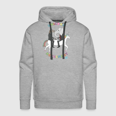 Unicorn Agreement Republican & Democrat On Unicorn - Men's Premium Hoodie