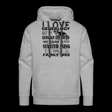Love German Shepherd Shirt - Men's Premium Hoodie