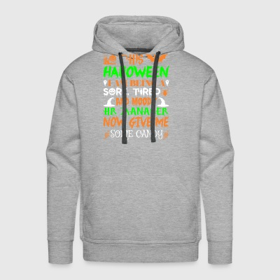 This Halloween Tired Moody Hr Manager Candy - Men's Premium Hoodie