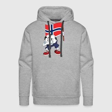 Norway Dabbing Soccer Ball - Men's Premium Hoodie