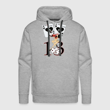 POKHER PLAYER GIRL 13 - Men's Premium Hoodie