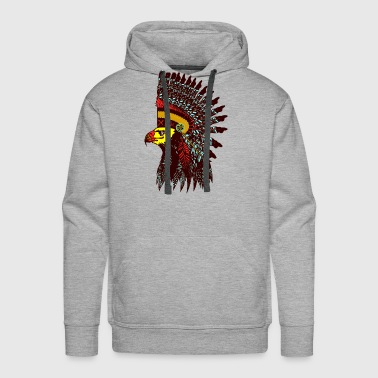 Tribal Eagle Totem with Headdress - Men's Premium Hoodie