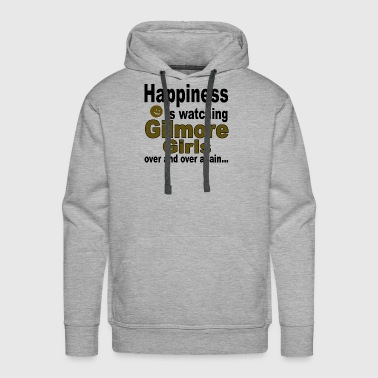 Happiness is watching Gilmore Girls - Men's Premium Hoodie