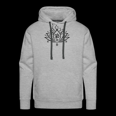 Lotus flower, Yoga with om symbol - Men's Premium Hoodie