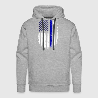 Distressed American Flag Navy Gift - Men's Premium Hoodie