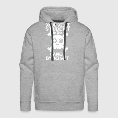 Social Science Student By Day Gamer By Night Gift - Men's Premium Hoodie