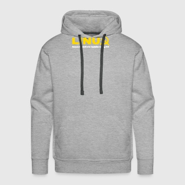 Linux because microsoft is for capitalists - Men's Premium Hoodie