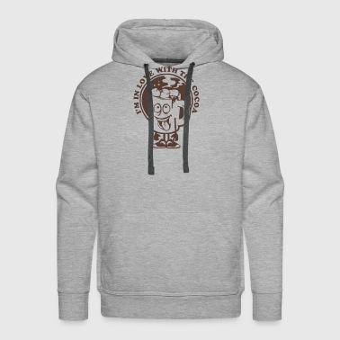 in love with the cocoa Funny Saying - Men's Premium Hoodie