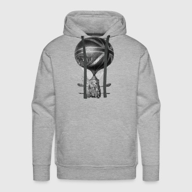 Lunardi s New Balloon as it ascended with Himself - Men's Premium Hoodie