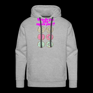 Funny Six Pack Donut Shirt for men and women - Men's Premium Hoodie