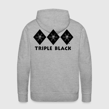 Triple Black Diamond - Snowboarding - Men's Premium Hoodie