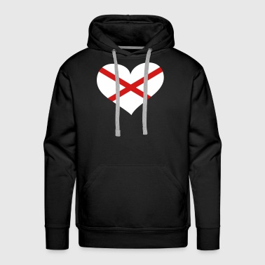 Northern Ireland Heart; Love Northern Ireland - Men's Premium Hoodie