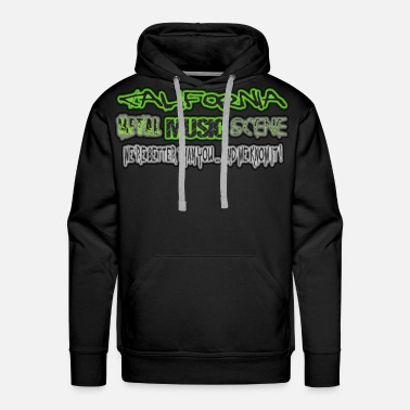 Metal Music CALIFORNIA METAL MUSIC SCENE - Men's Premium Hoodie