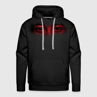red misterious eye face - Men's Premium Hoodie