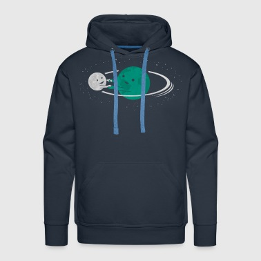 Relation Between Globe And Moon - Men's Premium Hoodie