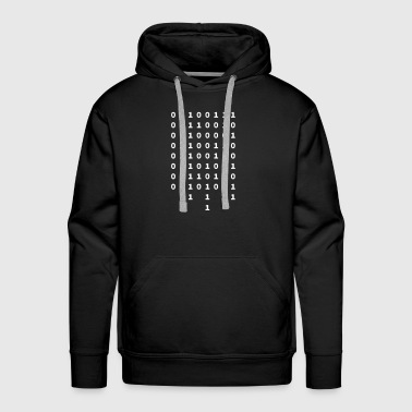 Binary graffiti in binary - Men's Premium Hoodie