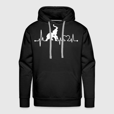 Elephant Love Shirt - Men's Premium Hoodie