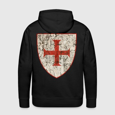 Templar Cross, Old - Men's Premium Hoodie