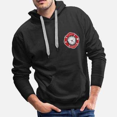 Fire DOD Fire Badge - Men's Premium Hoodie