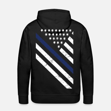 Police Thin Blue Line Exclusive - Men's Premium Hoodie