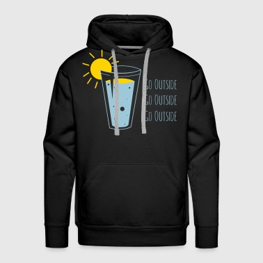 Go Outside 2 - Men's Premium Hoodie