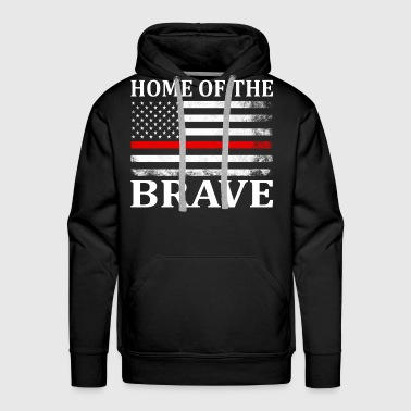 Home Of The Brave - Men's Premium Hoodie