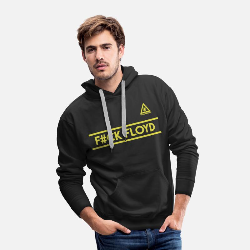 Team Hoodies & Sweatshirts - F#CK FLOYD Team Pacman by AiReal Apparel - Men's Premium Hoodie black