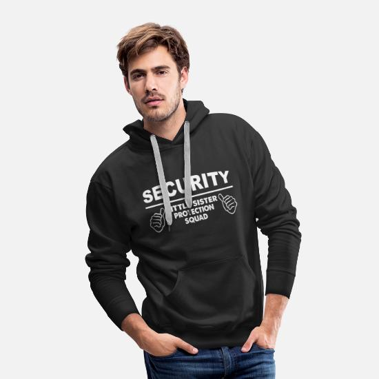 Sister Hoodies & Sweatshirts - Family - Little Sister Security Squad - Men's Premium Hoodie black