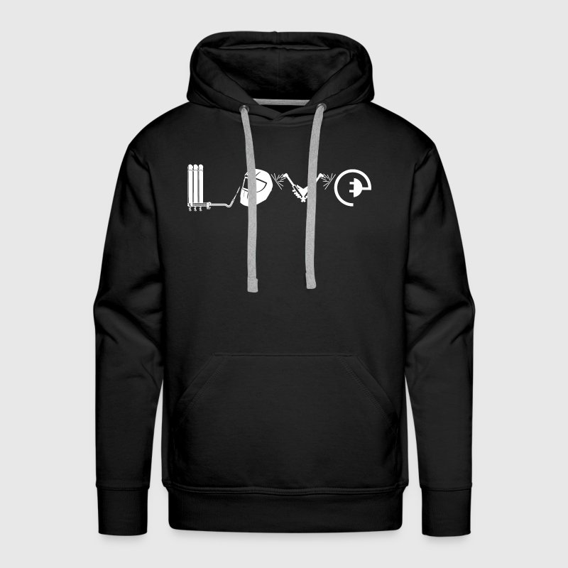 Love Welder Shirt - Men's Premium Hoodie
