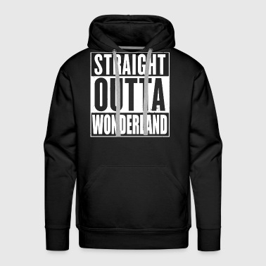 Straight Outta Wonderland Alice Design - Men's Premium Hoodie