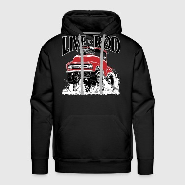 LIVE TO ROD 56 F100 P/U - Men's Premium Hoodie